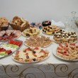 Stock Photo: Canape on table