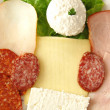 Cheese,salami, sausage... — Stock Photo #34351103