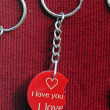 Broken heart keyholder — Stock Photo