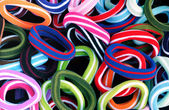 Colourfull hair elastics — Stock Photo
