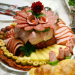 Well decorated cold cuts — Stock Photo