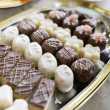 Stock Photo: Homemade chocolate truffles and pralines