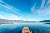 Lake prespa, macedonia — Stock Photo