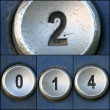 Happy new year with telephone keypad numbers — Stock Photo