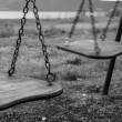 Swings in a park — Stock Photo