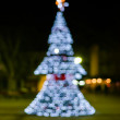 Christmas tree bokeh — Stock Photo