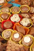 Homemade various chocolate truffles — Stock Photo