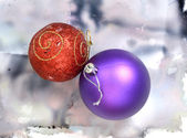 X mass balls — Stock Photo
