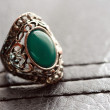 Male fashion ring with gem — Stock Photo