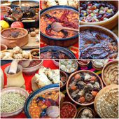 Traditional macedonian food , collage — Stock Photo