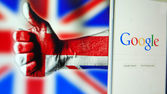 UK  likes Google — Foto Stock