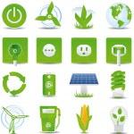 Green energy icon set — Stock Vector #2577284