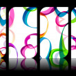 Set of modern, elegant colorful business cards — Stock Vector