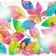 Royalty-Free Stock Vector Image: Vintage colorful autumn leaves illustration
