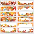 Colorful autumn leaves banners — ストックベクタ