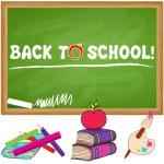 Cute back to school illustration — Stock Vector