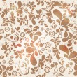 Beautiful seamless vintage floral background — Stock Vector