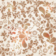 Stock Vector: Beautiful seamless vintage floral background