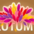 Colorful autumn leaves illustration — Stock vektor