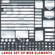 Large set of web design elements