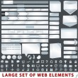 Large set of web design elements — Vector de stock #12892193