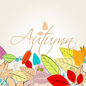 Colorful autumn leaves illustration — Stock Vector