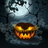 Halloween illustration with Jack O Lantern — Stock Vector