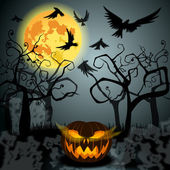 Halloween illustration with Jack O — Stock Vector