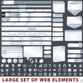 Amplio conjunto de elementos de diseño web — Vector de stock