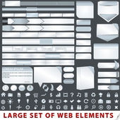 Web デザインの要素の大規模なセット — ストックベクタ
