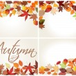 Stock Vector: Set of colorful autumn leaves illustration