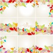 Set of colorful autumn leaves illustration — Stock Vector #13423844