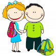 Cute back to school illustration - Imagen vectorial