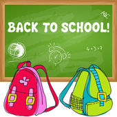 Cute back to school illustration — Stock Vector