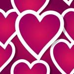 Illustration of seamless, elegant, beautiful romantic hearts — Stock Vector #21174523