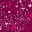 Illustration of floral romantic background — Vector de stock #21174569
