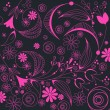 Illustration of floral romantic background — Stock vektor
