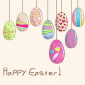 Cute Easter eggs illustration — Stock Vector