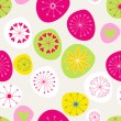 Seamless cute spring flowers background - Stock vektor