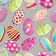 Seamless cute Easter eggs background — Imagens vectoriais em stock