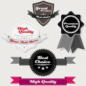 Set of vintage premium and high quality labels — Stock Vector