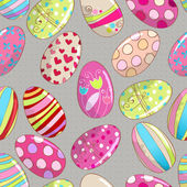 Seamless cute Easter eggs background — Stock Vector