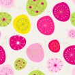 Seamless cute floral romantic background - Grafika wektorowa