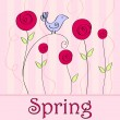 Cute spring bird illustration - Stock vektor