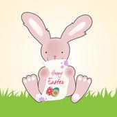 Cute Easter bunny — Stock Vector