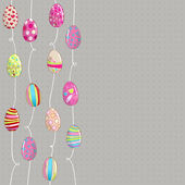 Bonita ilustración de huevos de pascua — Vector de stock