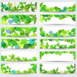 Colorful spring leaves banners — Stock Vector