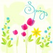 Stock Vector: Beautiful spring flowers