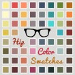 Set of cool color swatches — Stock Vector