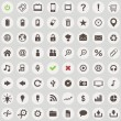 Large set of retro style web icons — Vector de stock #25628349
